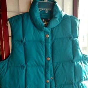 Bluish green colored women's vest